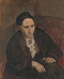 Portrait of Gertrude Stein by Picasso 1905-1906