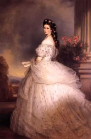 Sisi in 1865 by Winterhalfter (Hoffburg, Vienna) http://www.gogmsite.net/empress_elisabeth_of _austri/1865_elisabeth_with_diamond.html