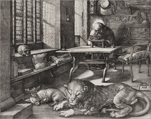 Dürer's 'Saint Jerome in his Study' - did Whitney subscribe more to the contemplative life or the active one?